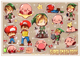 Super Smash Sticker Sheet by jinyjin