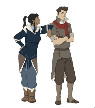 Korra and Mako by BlueDecember89