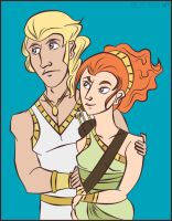 COTT -- Young Artemis + Apollo by tamerofhorses