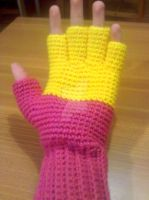 Colour-blind Fingerless Gloves by TentacleCrochet