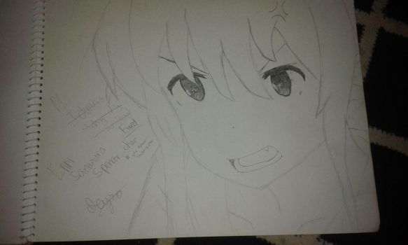 Eriri Sawamura Spencer V2 Drawing by IcyRO-kun