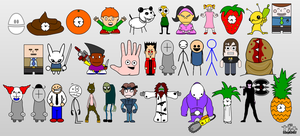 Newgrounds Characters 6 by 53xy83457