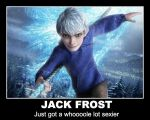 ROTG Motivational Poster - Jack Frost by BlackChesireWolf