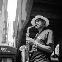 Saxaphone on Wabash by jonniedee