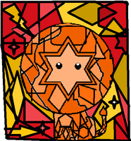 Stained Glass Lion by ArtMaker333