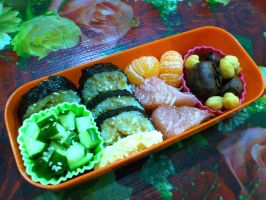 kimbab chestnut chickpea bento by plainordinary1
