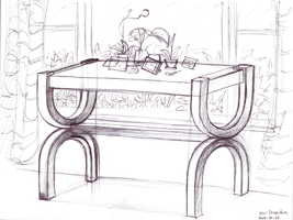 Perspective of a Stylish Table by tynafish