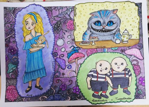 Alice in Wonderland page by Mooniilla