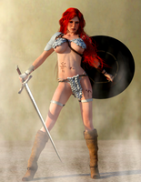 Red Sonja - Angry Eyes by Vad-mig-orolig