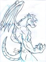 Jake Long Dragon Form Pencils by SPetnAZ1982