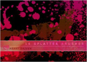 Splatter Brushes by HeartDriven