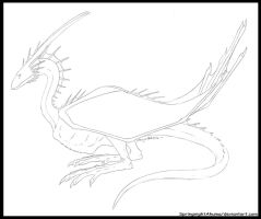 Springnight Webbed Wyvernoid -Quick Sketch- by SpringnightAkuma