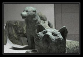 Stone dogs by c-lue