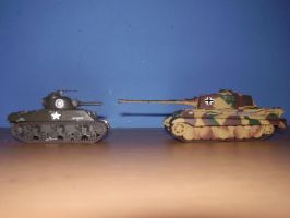 Sherman and Tiger Comparison by Shay-Tank-Dragon-41