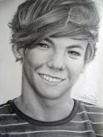 One Direction Drawing - Louis Tomlinson :D by val1drawing