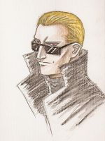 Wesker watercolour by kanetosama