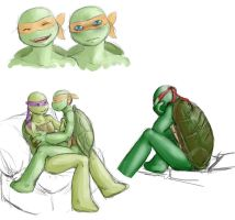 tmnt dooooodles by Blackdragon-sama