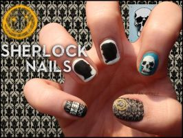 Sherlock Nails by JawsOfKita-LoveHim