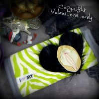 Like a Tiger: Stitched Vulva Wallet by VulvaLoveLovely
