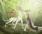 Harassment - woodlanders and the fox by Chaluny