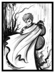 Gaara ink painting by lunrsilvreclips