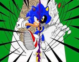 Metal and Sonic WIP by kingpoopy