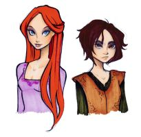 Sansa and Arya by Nina-D-Lux