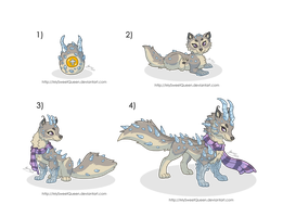 [Sold] Adoptables: Points Monster Pack by MySweetQueen