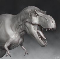 T-Rex - 3D Model WIP 2 by FoxHound1984