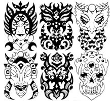 Wall of Masks 7 by Tillinghast23