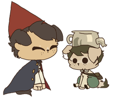 Chibi Wirt And Greg (doggies) by Fire-Obsidian