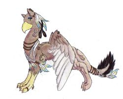 Egyptian Gryphon by leafeon-ex