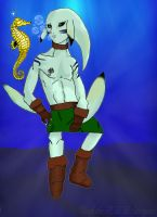 Zora Link and the Seahorse by Chuck-the-ADDragon