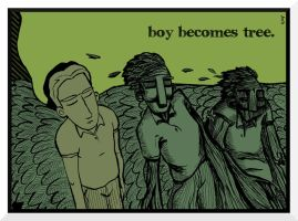 boy becomes tree. by Velica