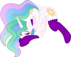 Celestia in socks by SallemCat