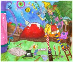 The Misadventures of Sucette les Epices and Bonbon by marikit