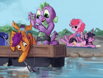 Fishing for crabs by spectralunicorn