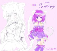 Mew Raspberry by Meawsy
