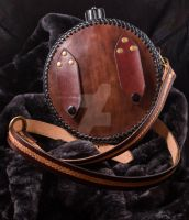 Personalized leather flask custom made to order by TirithGuard