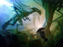 Xenomorphs by FleetingEmber