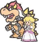 Bowser and Princess Peach by Dieterke007