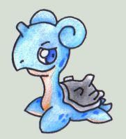 Baby lapras :D by elvereth