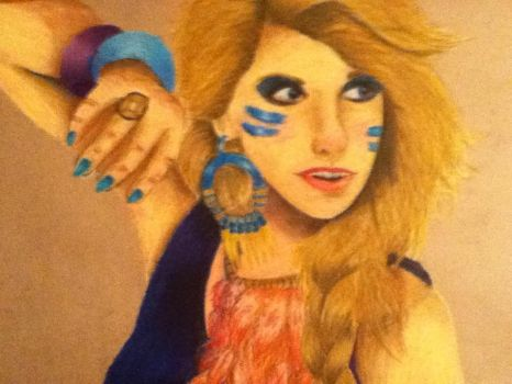 Ke$ha in Oil Pastel 2 by Rire-Et-Bisoux