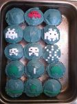 Space Invaders cupcakes by iheart8bit