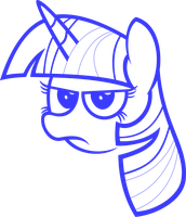 Twilight Sparkle head by Zacatron94