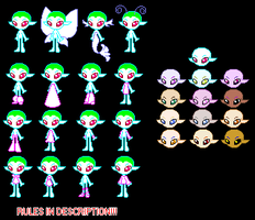 Neopets Faerie Doll Base Set by invertqueen7