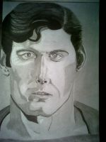 A real man of steel (Christopher Reeve) done by Mark-RSA