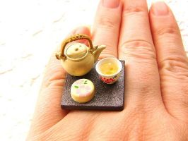 Tea Pot Cup Sweets Ring by souzoucreations