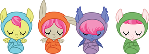 pink-maned baby adoptables by ivyhaze