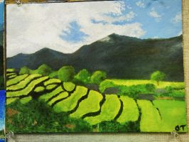 Rice Field - Impressionism by Good-Anime